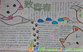 初中青春励志主题手抄报-中国梦 青春梦