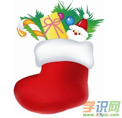 圣诞袜彩色简笔画的图片