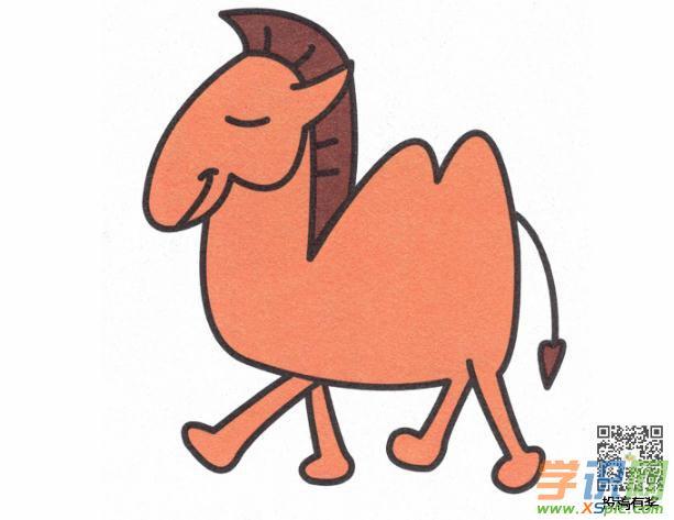 骆驼的画法步骤简笔画教程
