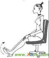 办公室瘦腿方法