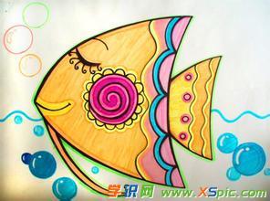 关于小鱼绘画作品欣赏