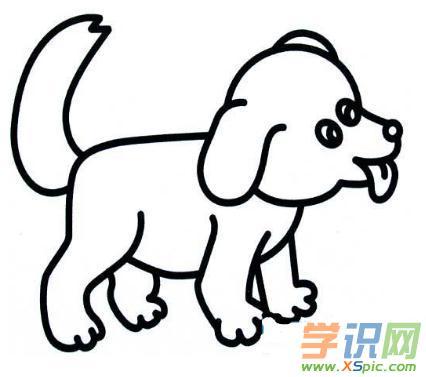 简笔画狗的铅笔画图片图片