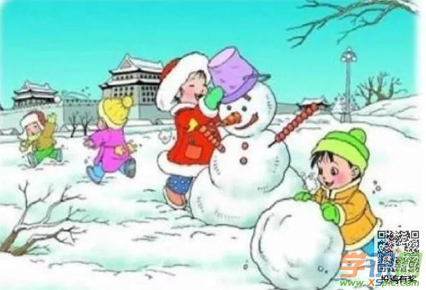 【看圖寫話戰爭的作文】看圖寫話作文二年級:堆雪人