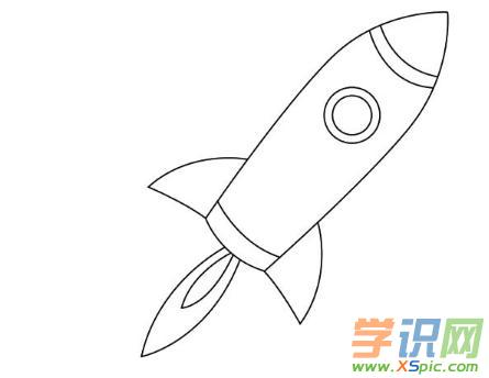 简笔画火箭的画法步骤
