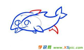 关于海豚的绘画的教程