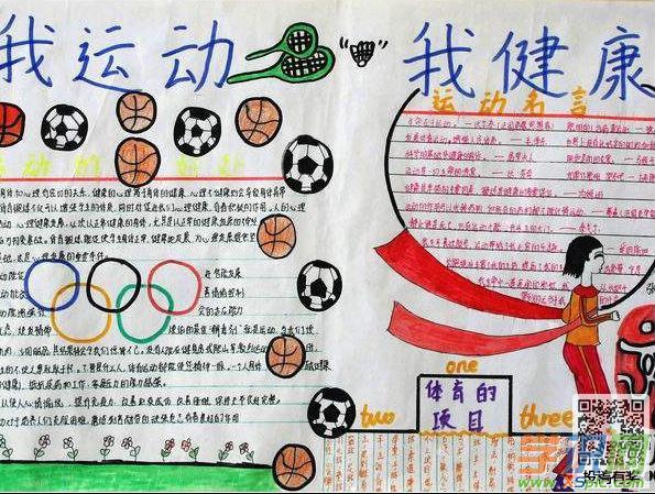 关于体育运动手抄报资料-生命因运动精彩