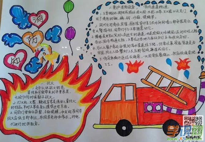 幼儿消防安全手抄报图片大全  2.一年级消防知识手抄报简笔画图片  3.图片