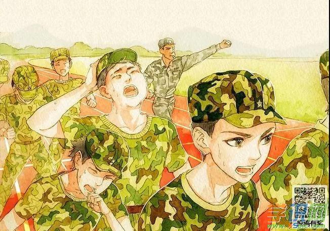 军训动漫人物图片素材