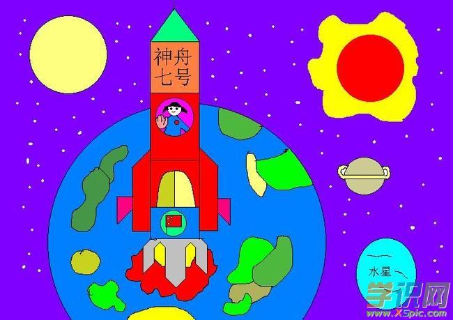 科幻绘画作品图片大全  2.少年科幻绘画
