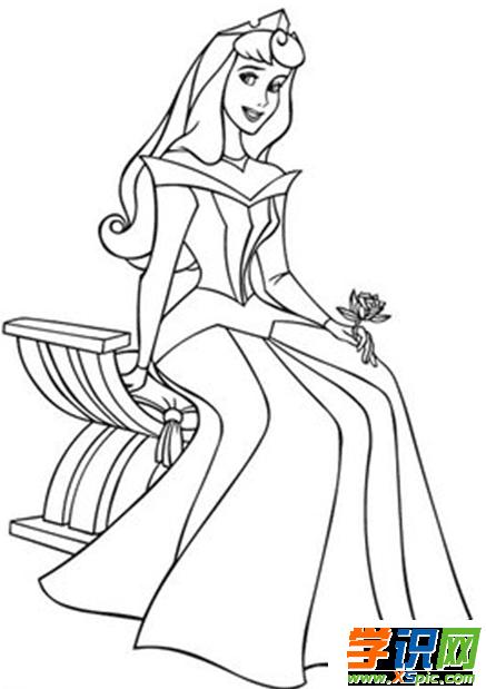 迪士尼公主怎么画简笔画