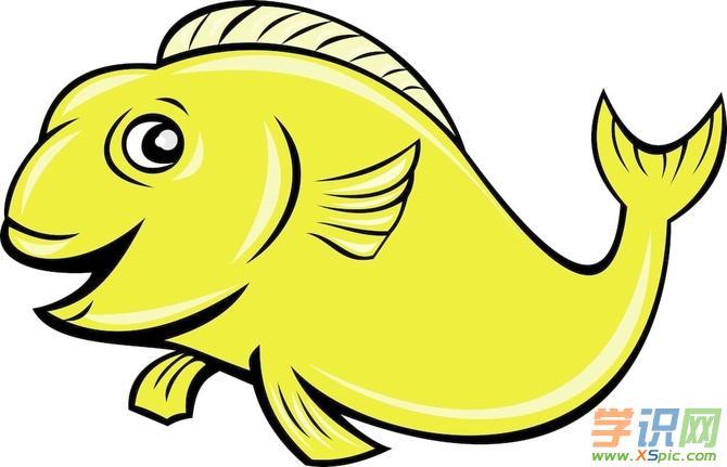 鱼儿梦中的简笔画