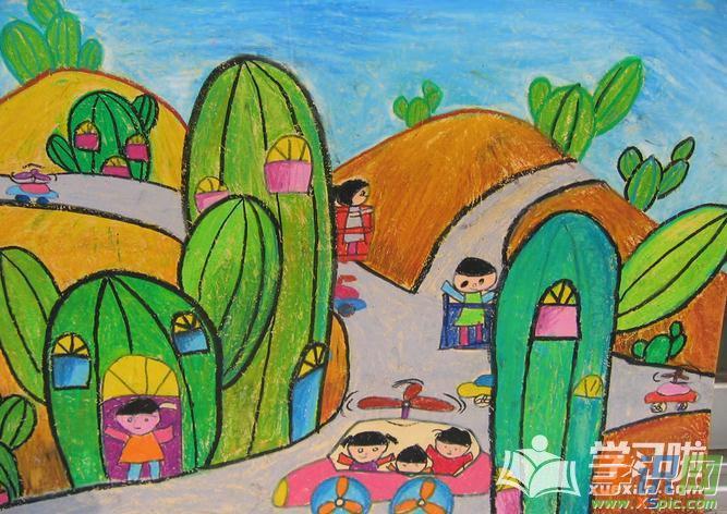 儿童绘画房子简笔画