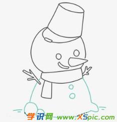 小雪人的画法步骤简笔画绘画教程