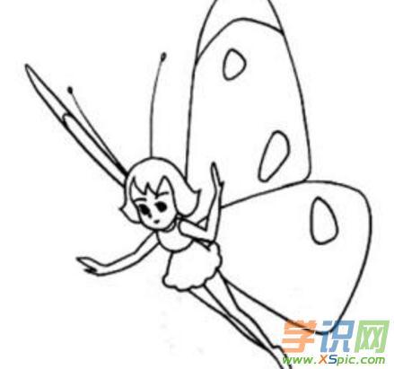 可爱蝴蝶简笔画图片大全