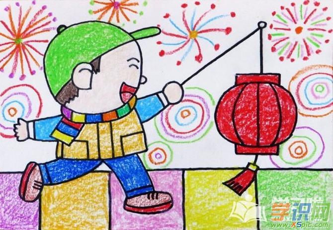 儿童画素材简单又漂亮的图案