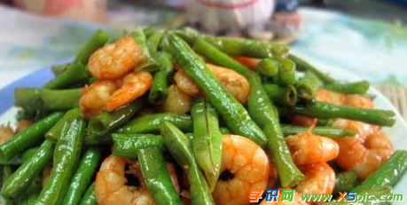 虾仁炒豆角的做法