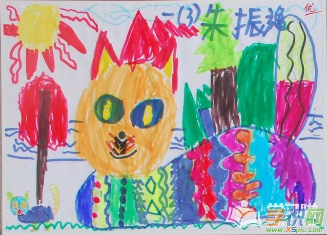 儿童画素材漂亮简单的画