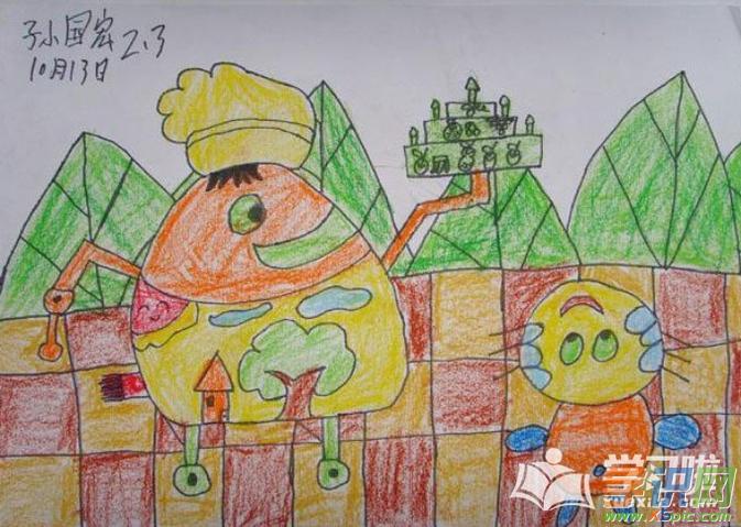简单漂亮的儿童画素材