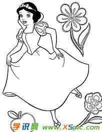 白雪公主故事图画