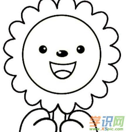 太阳花简笔画的图片