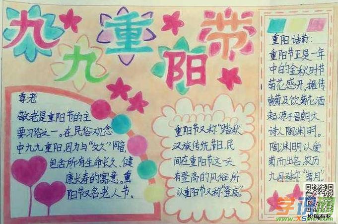 关于重阳节手抄报的图片-重阳节快乐