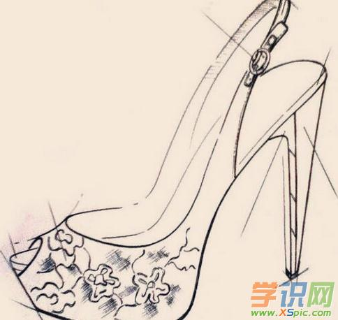 卡通高跟鞋简笔画图片