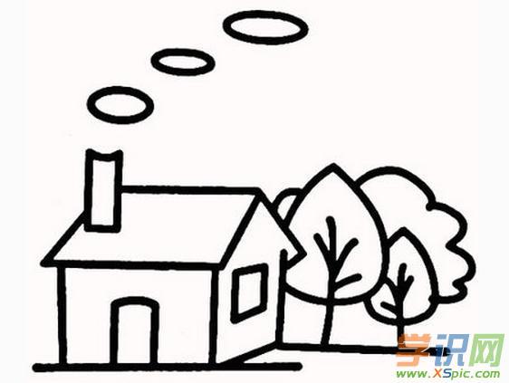 小学生房子简笔图画作品精选