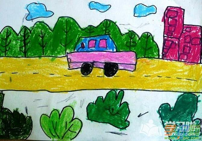 儿童画简单又漂亮图画