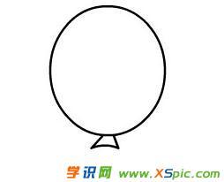 气球的简笔画绘画步骤