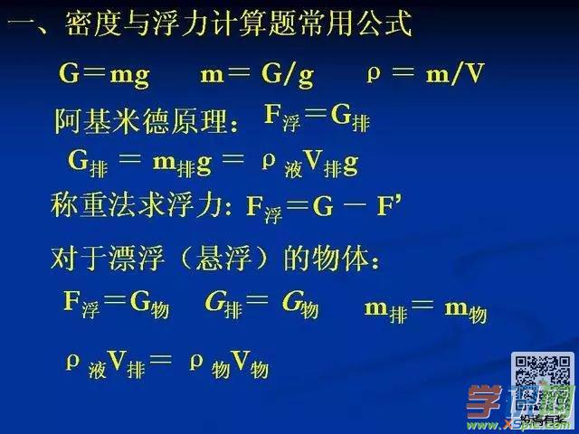 浮力初中密度与物理解析题举重计算初中生分类图片