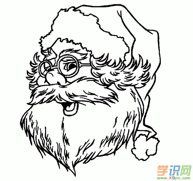 人物简笔画:10张圣诞老人简笔画头像赏析
