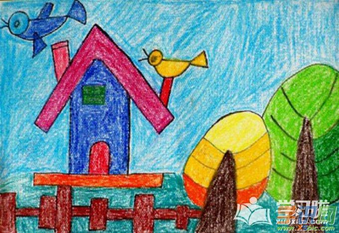 儿童画画简单漂亮的作品