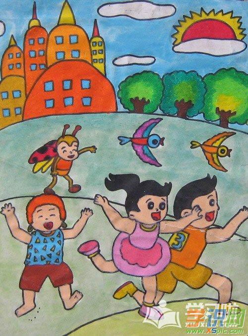 大班儿童绘画作品图片