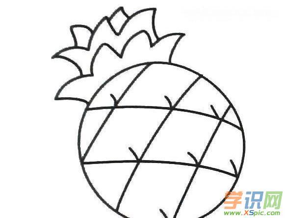 菠萝幼儿图画图片大全