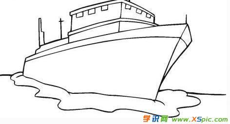 少儿轮船简笔图画欣赏