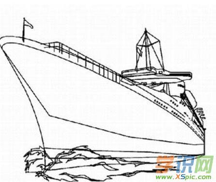 轮船儿童创意简笔画图片