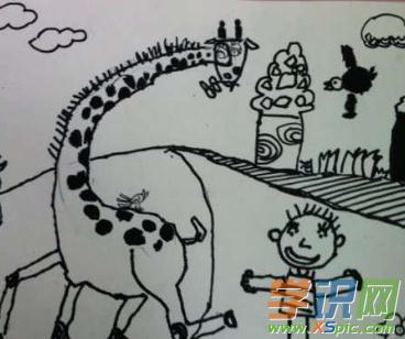 儿童的简单铅笔画图片