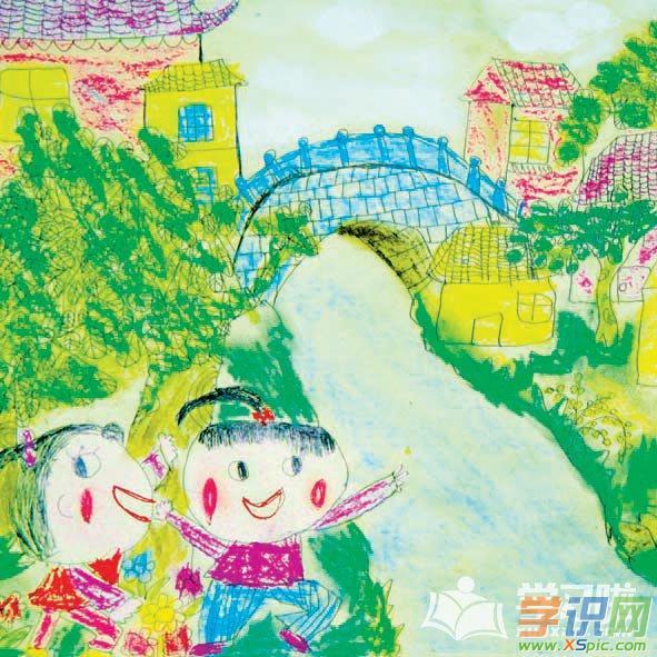 四年级小学生画画美术作品