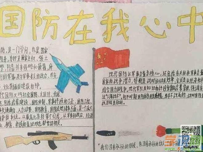 中学生国防教育手抄报-富国强军 国之要务