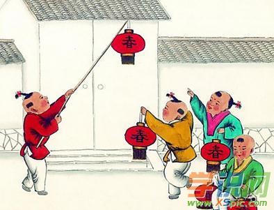 灯笼中国画图片