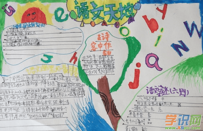 初中语文我爱文学的手抄报格式样板