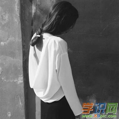 qq头像高冷女生黑白图片