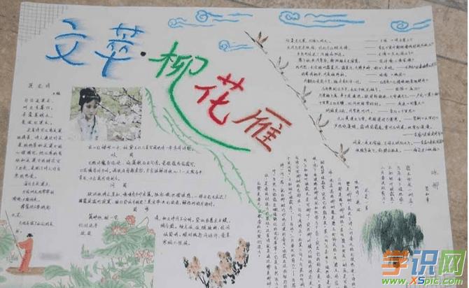 初中语文手抄报格式