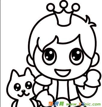 帅气王子简笔画图片