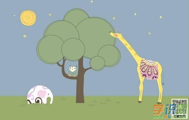 寻找优点的原创故事:不开心的长颈鹿
