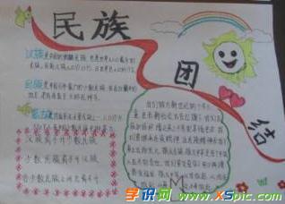 加强民族团结主题黑板报  3.小学生民族团结教育手抄报内容  4.