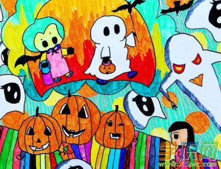 学识网 爱好 学画画 学画画入门     近年来万圣节在我国越来越得到