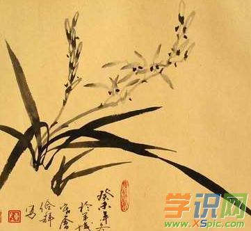 简单兰花中国画图片