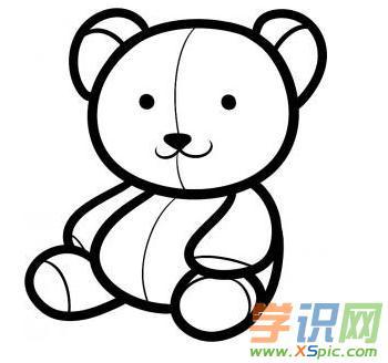 学识网 爱好 学画画 简笔画     泰迪熊也有可爱的一面,有很多人喜欢