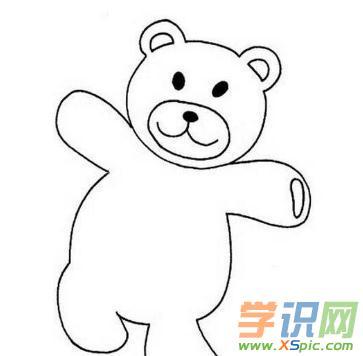 泰迪熊可爱简笔画图片